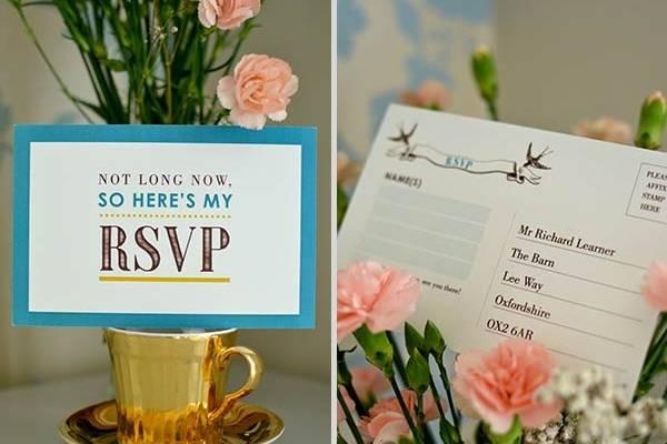 Swallows RSVP card