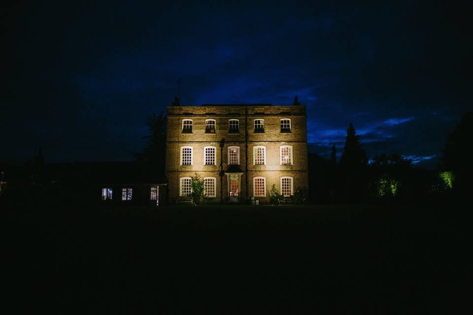 Eggington House At Night
