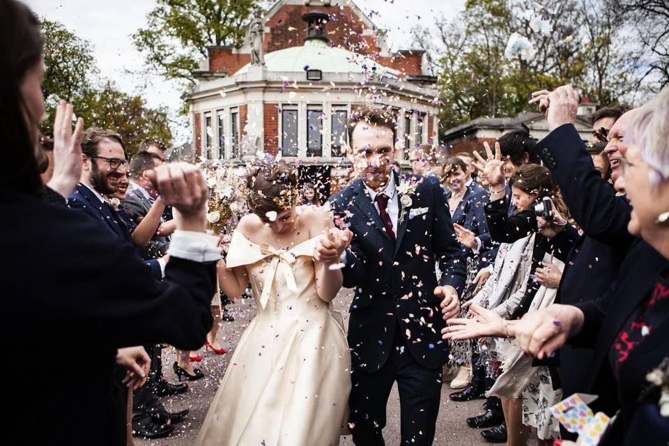 Bride & Groom after Wedding Ceremony