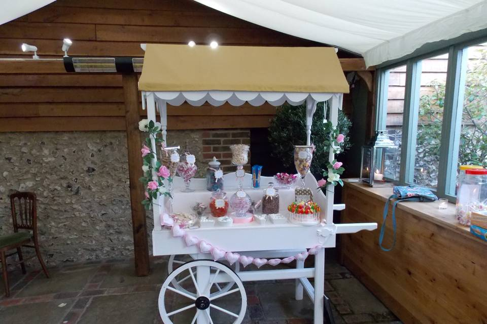 Sweet Dreams Candy Cart