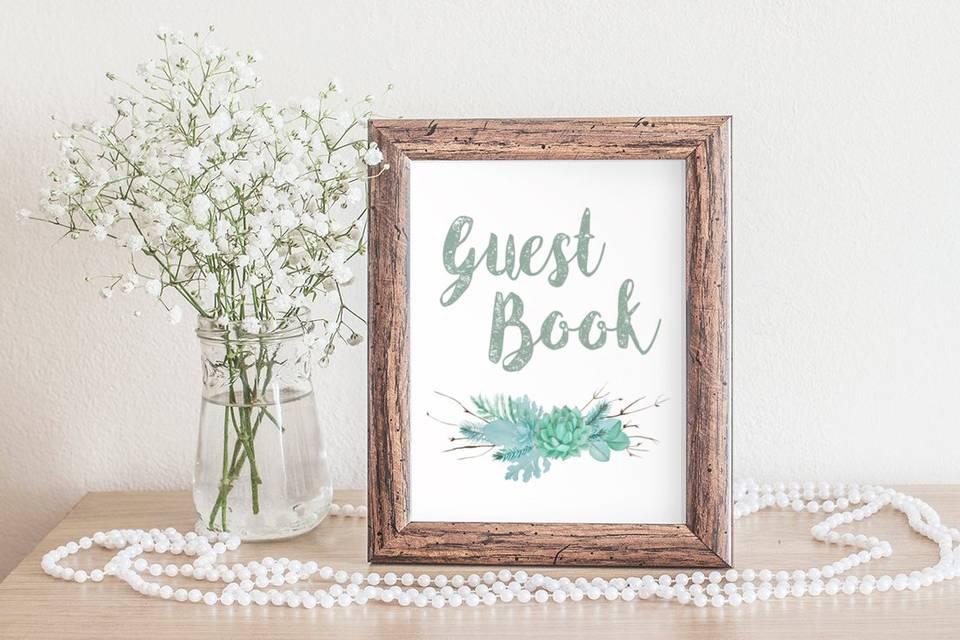 Succulent Range - Guest Book