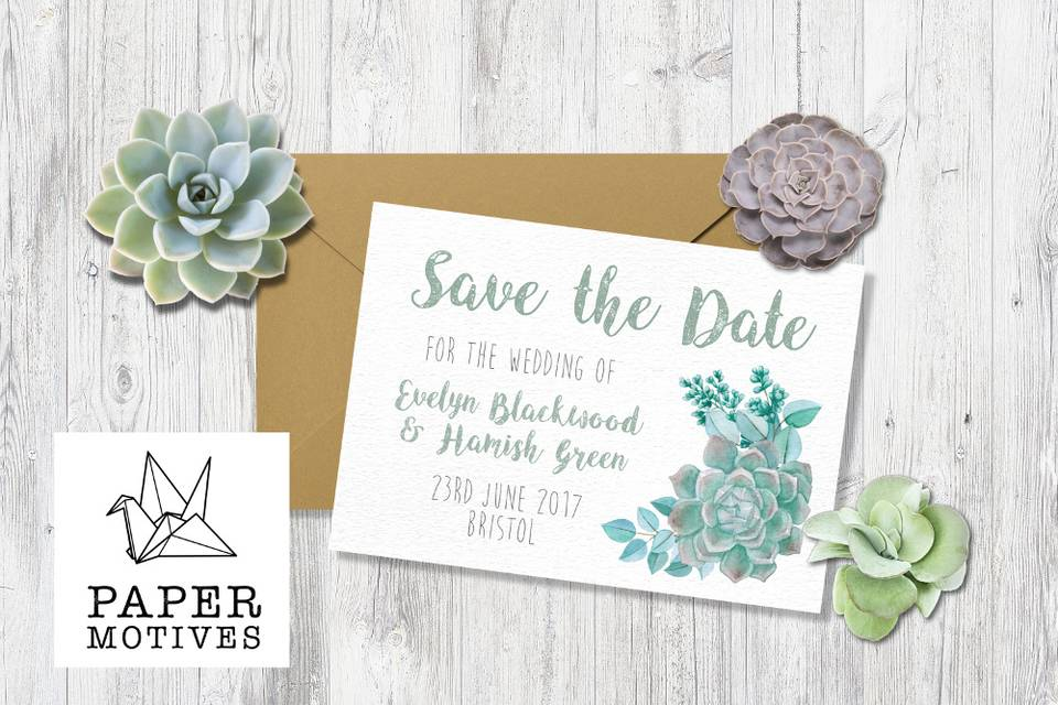 Succulent Range Save the Date