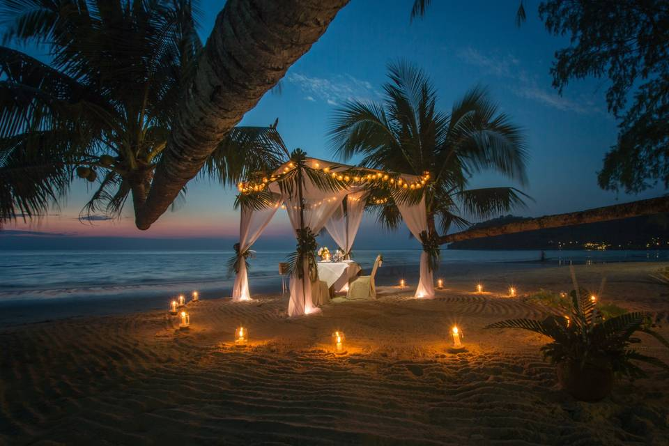 Romantic beachfront locations