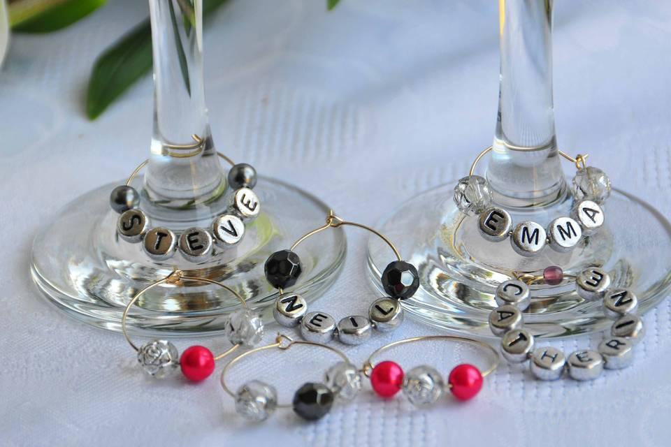 Wine Glass Charms By Mrs Nicsy