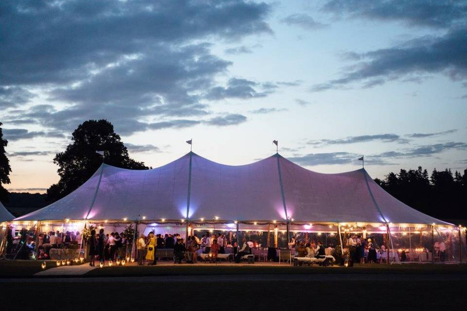 Sailcloth tent by night