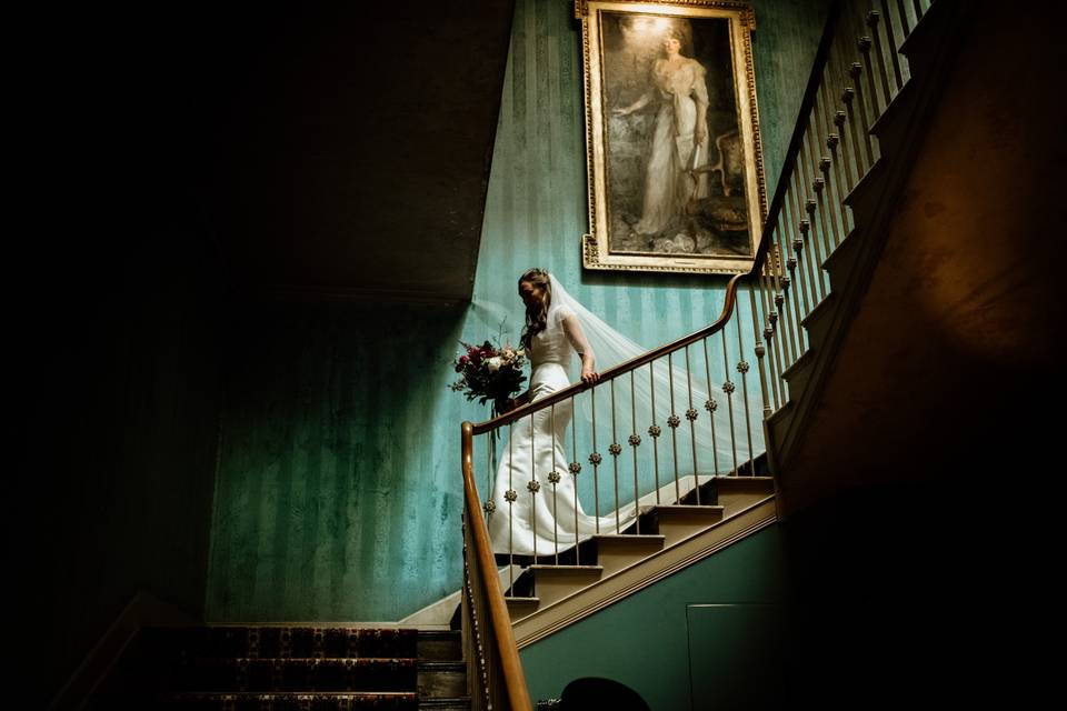 English manor house wedding