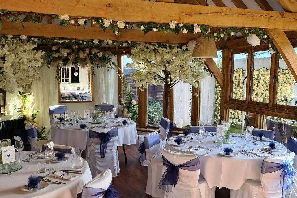 Wedding setup at the Waterside