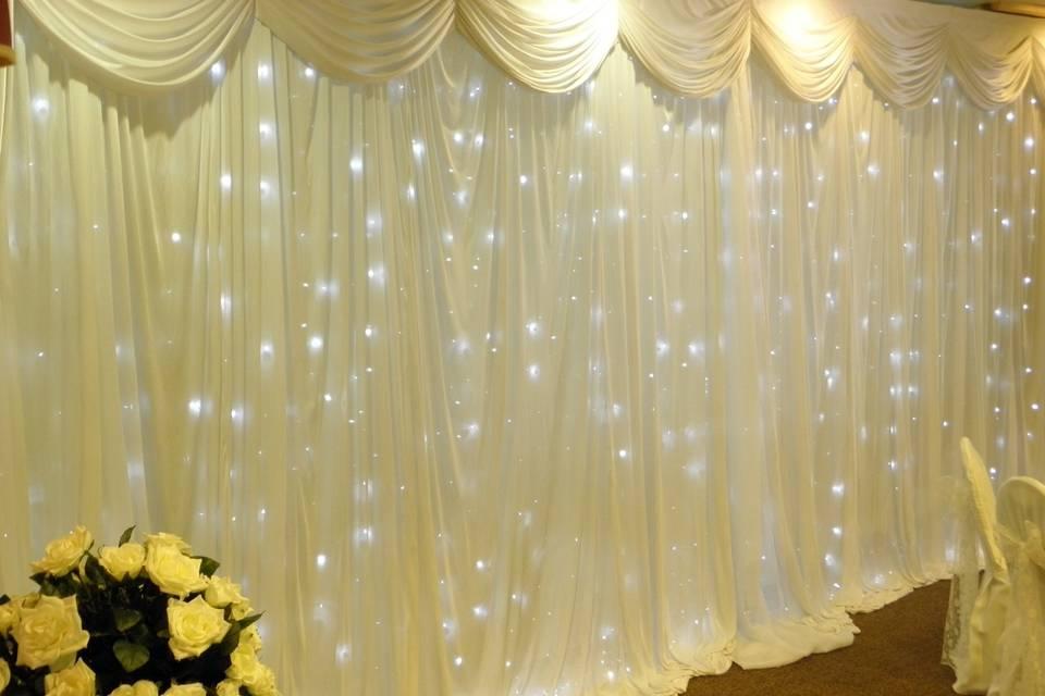 Fairylight backdrop