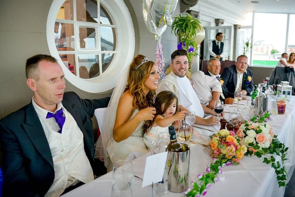 Wedding Reception upstairs