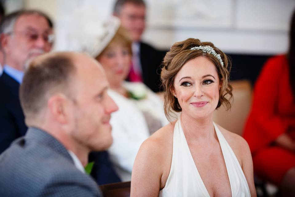 Soft glam bridal hair & makeup