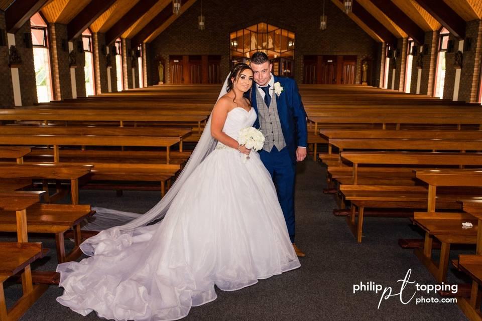 Wedding at a chapel
