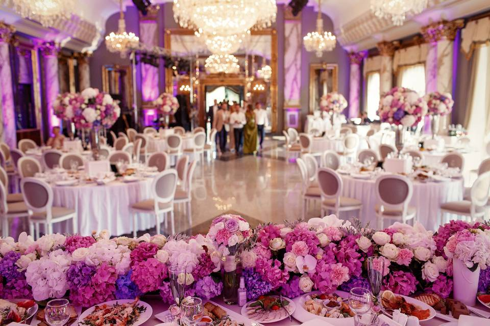 Colourful wedding venue