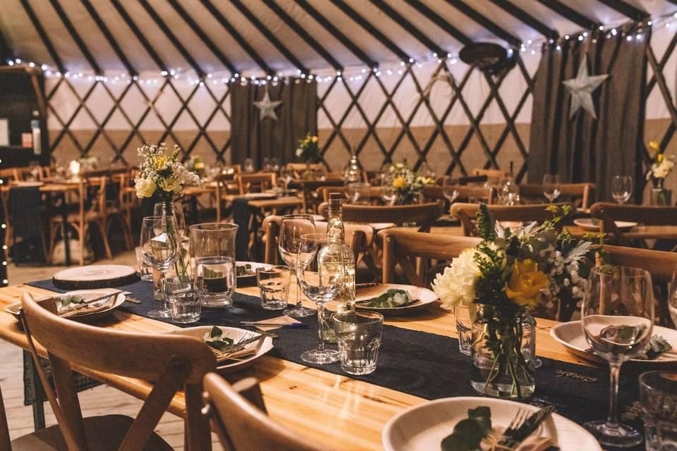 The Salix Yurts Dressed