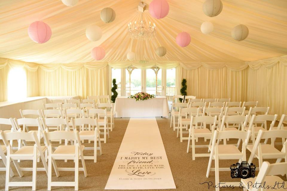 Personalised ceremony space