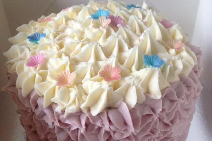 Vanilla Sponge, Ruffle Cake.