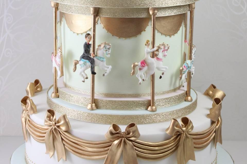 Carousel wedding cake