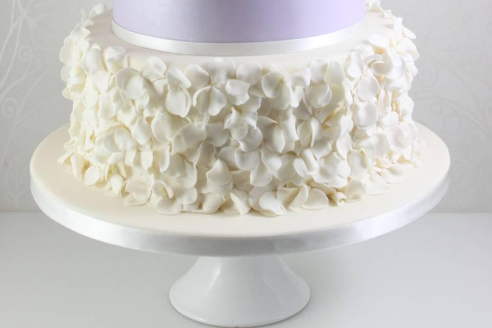 Lilac ruffle cake