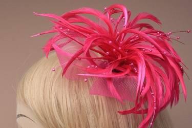 Pink Bead Fascinator