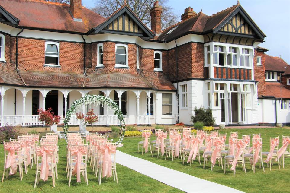 Moor Hall Outside Ceremony