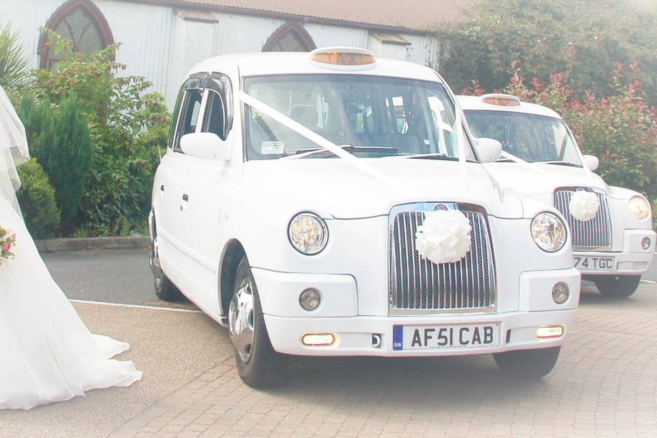 White london cabs