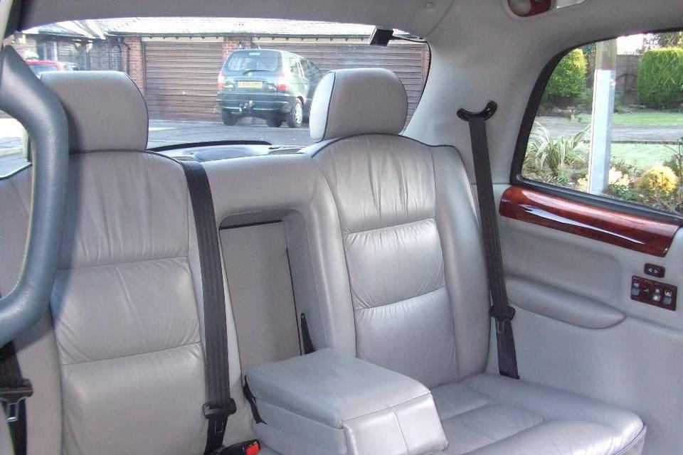 Interior of main white cab