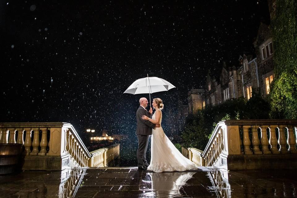 Under an umbrella - Philip Bedford Wedding Photography