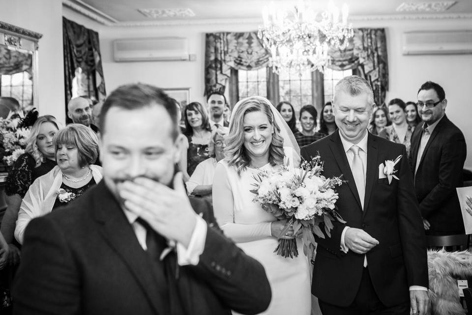 Wedding ceremony - Philip Bedford Wedding Photography