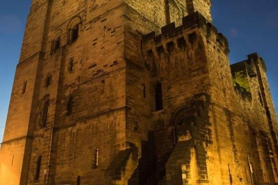 Newcastle Castle Keep by night