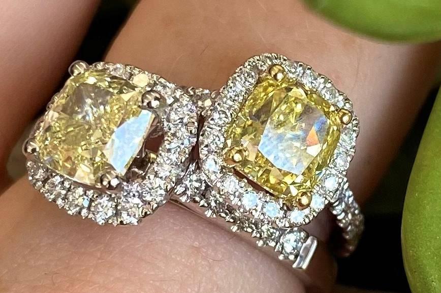 Fancy Yellow Diamond Rings
