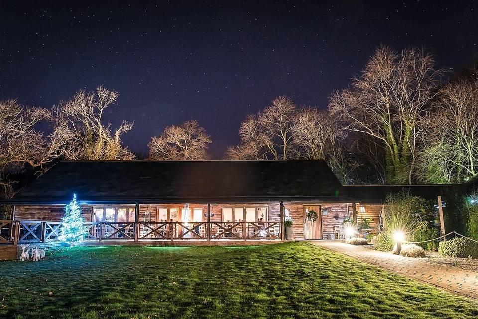 Wray's Barn on a winter's night