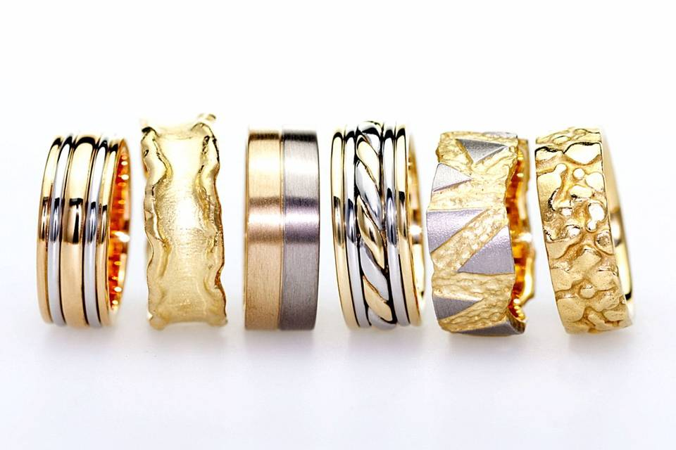 Bespoke men's wedding rings
