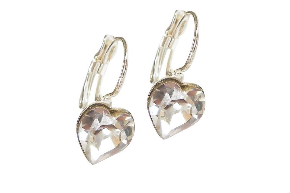 Diamante Heart Earrings