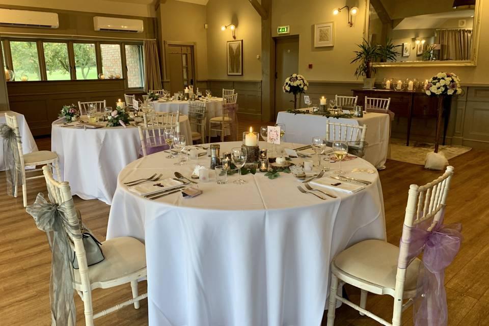 Intimate wedding arrangement