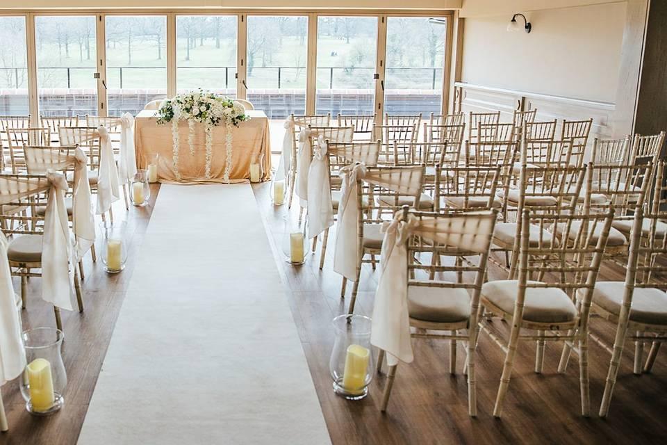 Licensed ceremony room