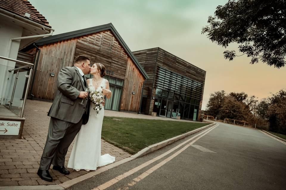 Bride and Groom at Aubrey Park