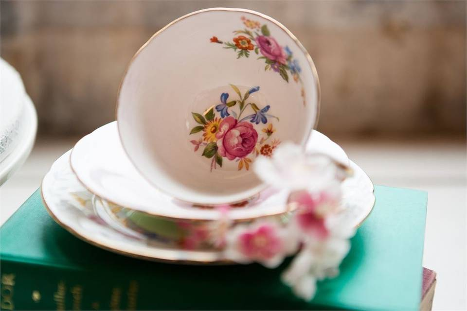 Floral china cup