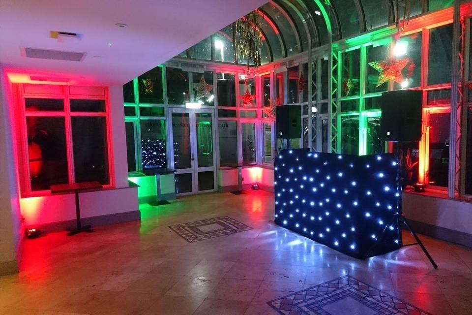 Wedding DJ booth