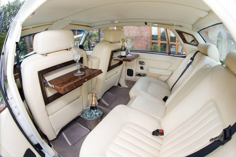 Cream leather interior
