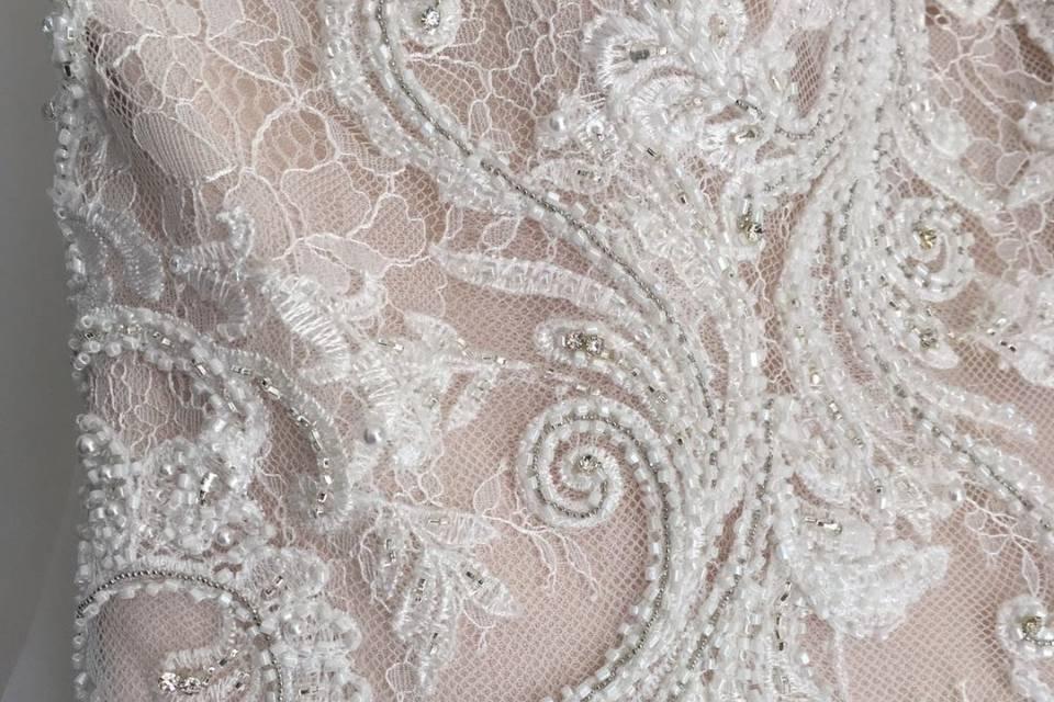 Lace dress with mocha undertone