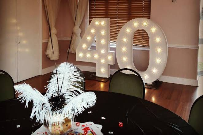 4FT Classic white marquee
