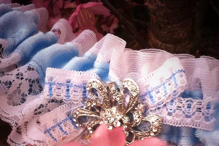 Our sparkle wedding garter!