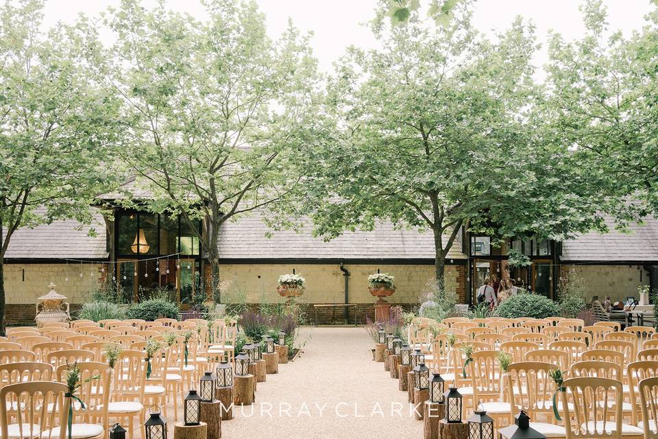 Ceremony and the barn