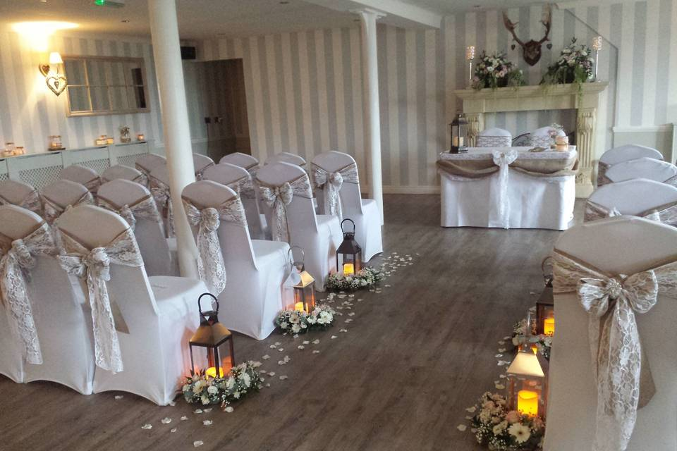 Function suite wedding ceremony