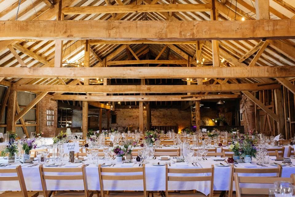 The Haybarn dining reception