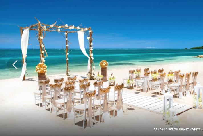 Beachfront ceremony Jamaica