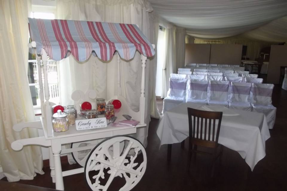 Sweet cart at a venue