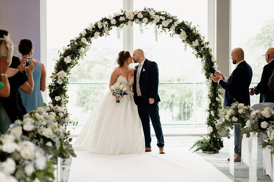 Married under a blossoming arch
