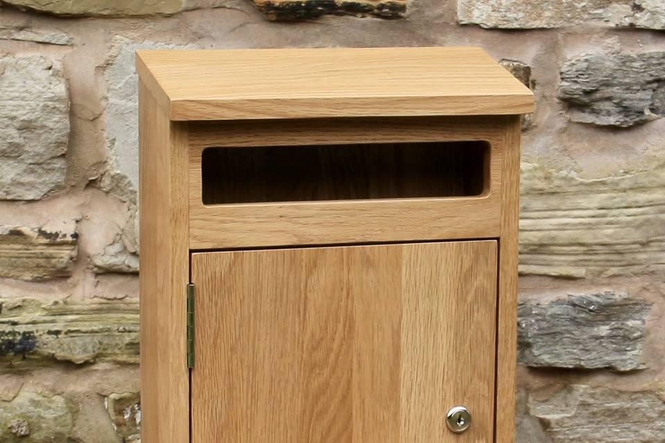 Oak post box