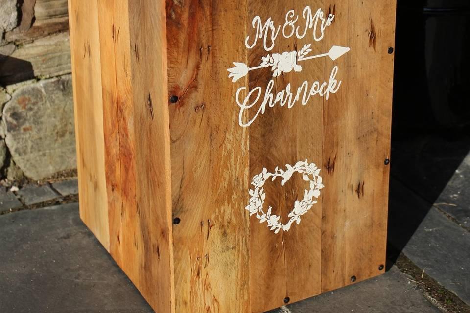 Vintage wedding post box