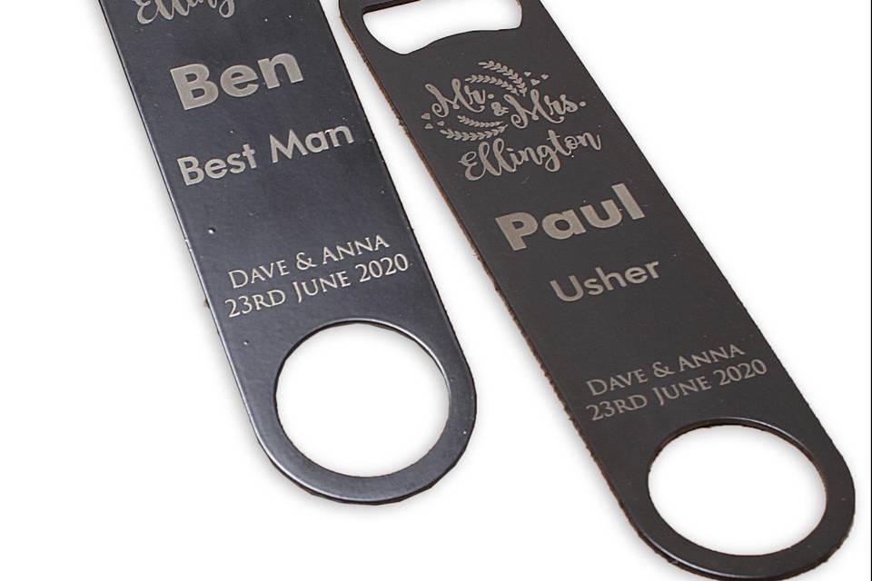 Personalised bottle openers